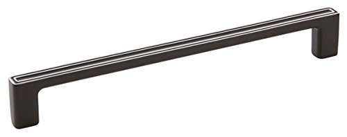Amerock BP54003-SBK Galleria Polara Appliance Handle, Silvered Black