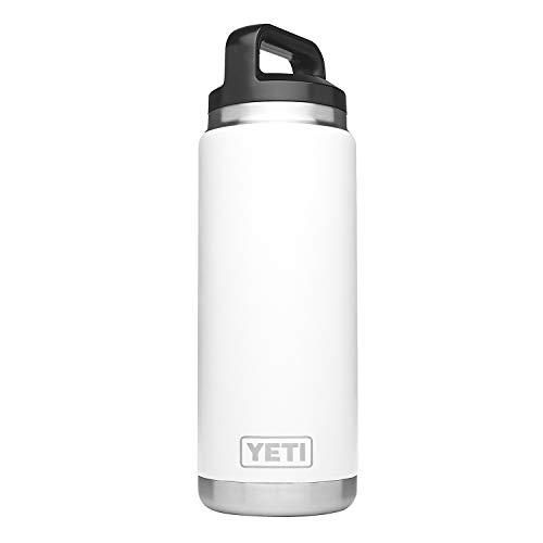 [(イエティ) YETI][ランブラー 768ml ステンレス鋼二重 壁真空断熱材 マグカップ (日本未発売カラー), ホワイト Rambler 26oz Vacuum Insulated Stainless Bottle, White] (並行輸入品)
