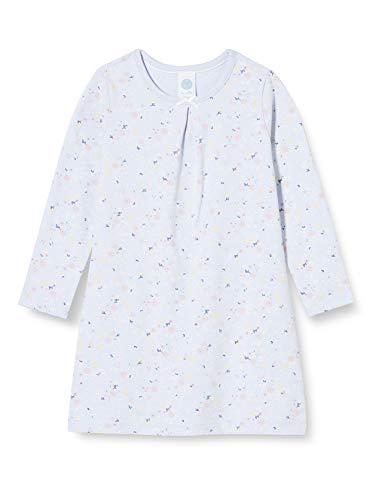 Sanetta Sleepshirt Light Blue Camicia da Notte da Bambina Delicato Blu con Un Ricco Dettaglio di Fiori, 116 cm