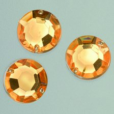 EFCO Facet 2 gat Gem Rose decoratieve steen, acryl, pale oranje, 12 mm, 75
