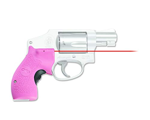 Crimson Trace LG-105 Lasergrips with Red Laser, Heavy Duty Construction and Instinctive Activation for S&W J-Frame Revolvers, Defensive Shooting and Competition