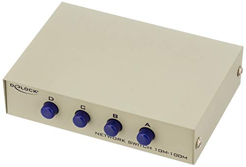 DeLock Umschalter RJ45 10/100 Mbps 4 Port manuell Bidirektional