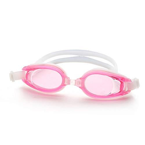 MHP zwembril volwassen mannen en vrouwen waterdichte anti-mist flat HD professionele duikbril roze