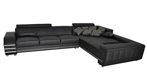 JVmoebel - Cuscino angolare in pelle, per divano, divano, design XXL, forma a U