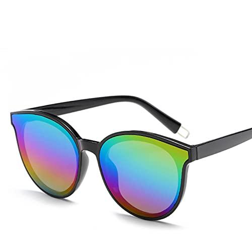 NC Gafas de sol retro con revestimiento de espejo, antirrayos UV, tamaño grande