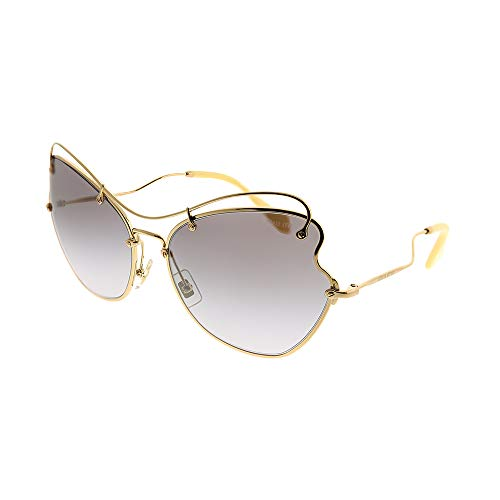 Miu Miu 0MU56RS 7OE3E2 65 Gafas de sol, Dorado (Antique Gold/Grey), Mujer