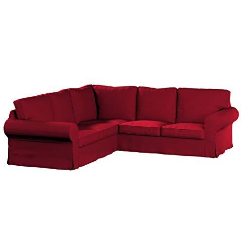 Dekoria Ektorp Ecksofabezug Sofahusse passend für IKEA Modell Ektorp rot