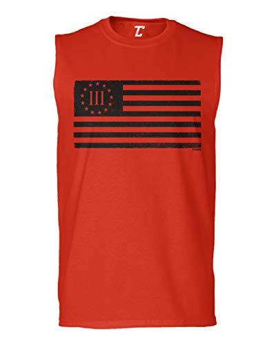 Three Percenter Flag - Threeper Protest Men's Sleeveless Shirt (Red, X-Large)