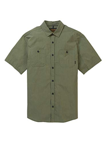 Burton M MB Ridge Shortsleeve Shirt Grün, Herren Hemd, Größe S - Farbe Weeds