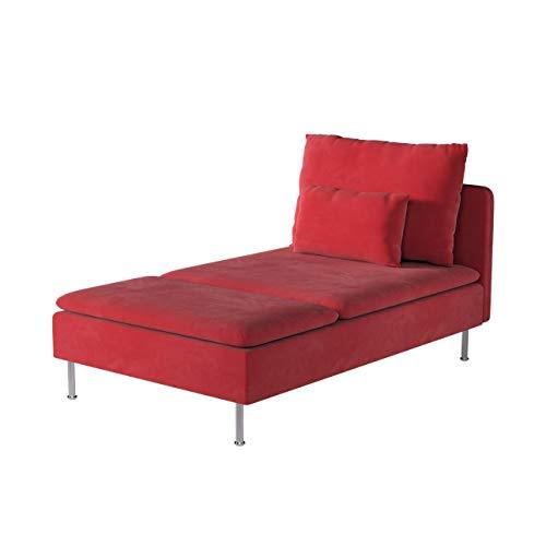 Dekoria Söderhamn Bezug für Recamiere Husse passend für IKEA Modell Söderhamm rot