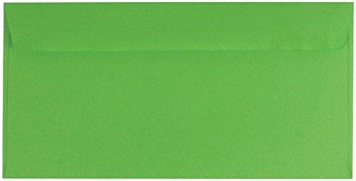 100 farbige Briefumschläge / Din lang / Farbe: grün