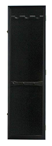 3 Baseball Bat Display Case Cabinet Holder Wall Mount Rack w/UV Protection Wall Mount - Lockable, B33 (Black Finish)