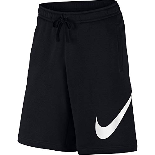 Nike Men's Sportwear Club Shorts, Black/White, Medium
