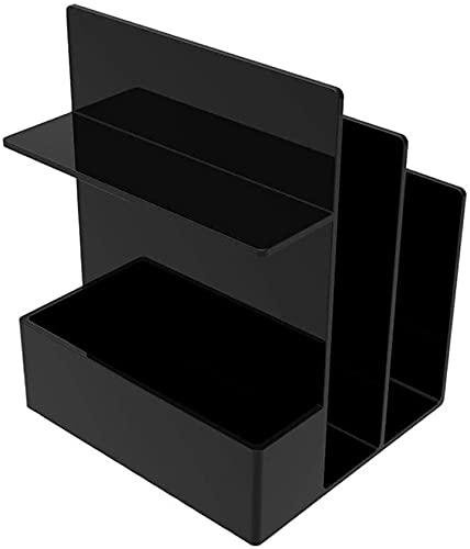 DaPengNB Bookshelf Multifunction Partition Desktop Bookshelf Suministros de Oficina Cosmetic Storage Rack, Organizador de estantería de Estudiante Simple Creativo para Libros ( Color : Negro )
