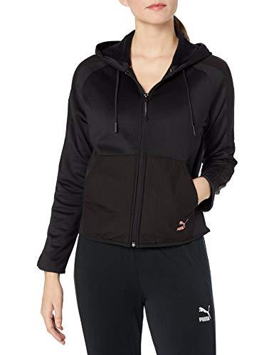 Sudadera con capucha y cremallera completa para mujer Evo T7, Puma Black, Small