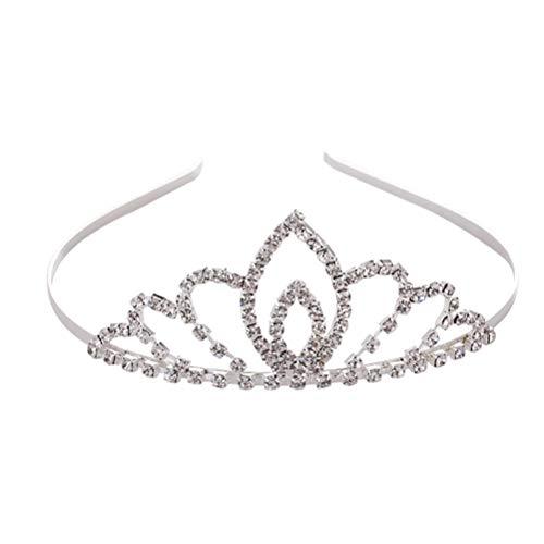 Couronne de mariée en forme de goutte d'eau en cristal élégant cerceau de cheveux noble bandeau accessoires de cheveux de mariage