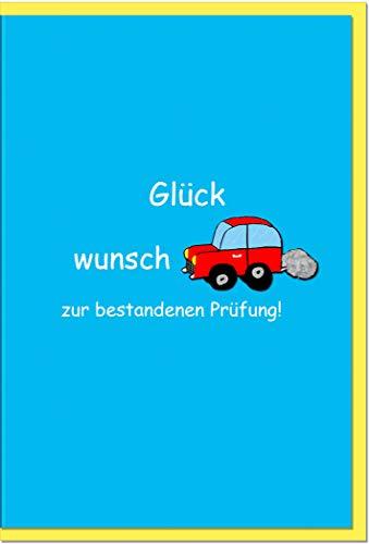 metALUm Karte zur bestandenen Führerscheinprüfung AUTO | 1027019S