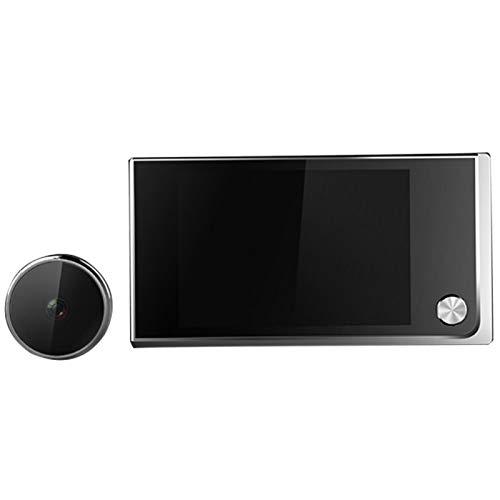 ALEOHALTER Timbre Digital de 3,5 Pulgadas Cámara de Seguridad LCD 120 Grados Ojo Gran Angular Mirilla electrónica Timbre de la Puerta Cámara de Infrarrojos en Color Visor de Puerta
