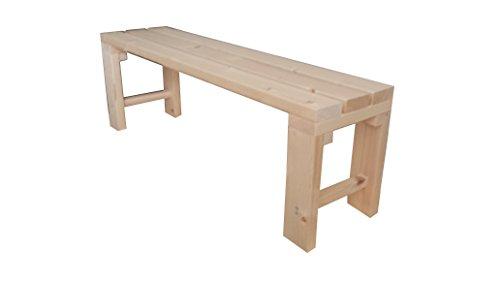 Banco de madera para jardín interior exterior 100x38.5x50H DISPONIBLE TANBIEN A MEDIDA