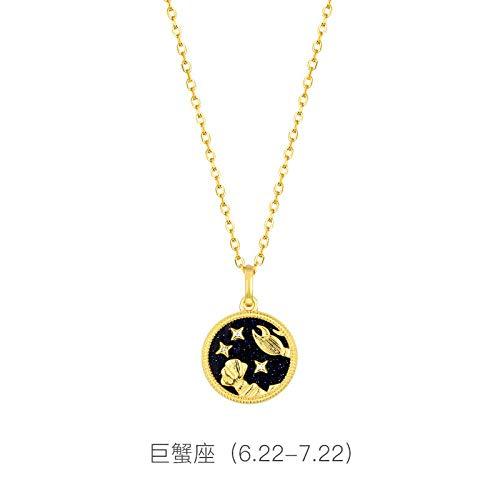 Bgpom Halskette S925 Sterling Silber Zwölf Sternbild Halskette Lila Gold Sand Halskette Schlüsselbeinkette, Krebs