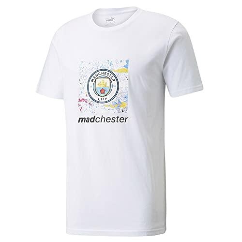 PUMA Camiseta de fútbol Man City x MDCR para hombre, Puma White., S