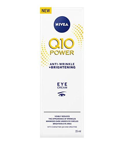 NIVEA Q10 Power Augencreme, Anti-Falten + Aufhellung, 15 ml