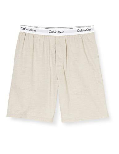 Calvin Klein Sleep Short Pantalones de Pijama, Beige (Sand Heather SH9), L para Hombre