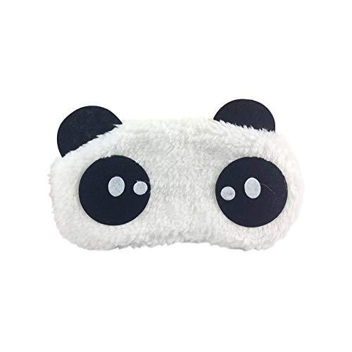 Preisvergleich Produktbild Monbedos Schlafmaske aus weichem Plüsch,  Panda-Motiv,  bequem,  leicht,  für Reisen,  Arbeit,  Büro,  Mittagspause