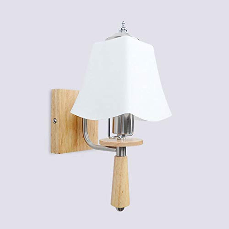 WngLei Wandleuchte Glaswandleuchte Wohnzimmer Lichter Schlafzimmer Nachttischlampe Kreative Holz Kunstgang Lichter Korridor Licht Eingang Licht (Größe   A)