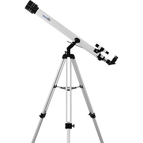 Zoomion Viking 60/900 AZ Juego de telescopio astronómico para niños y Principiantes en astronomía con trípode, ocluars y Visor