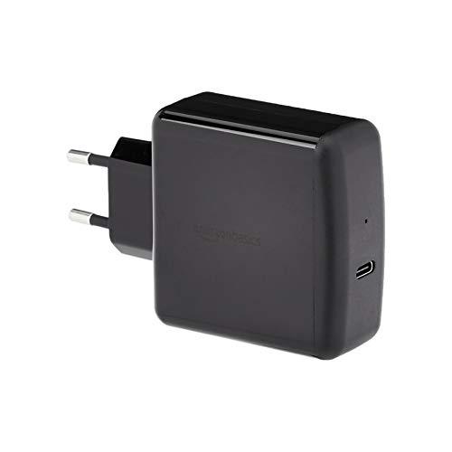 AmazonBasics Cargador para pared USB de tipo C 3.0, 65W, 1 puerto, EU/negro