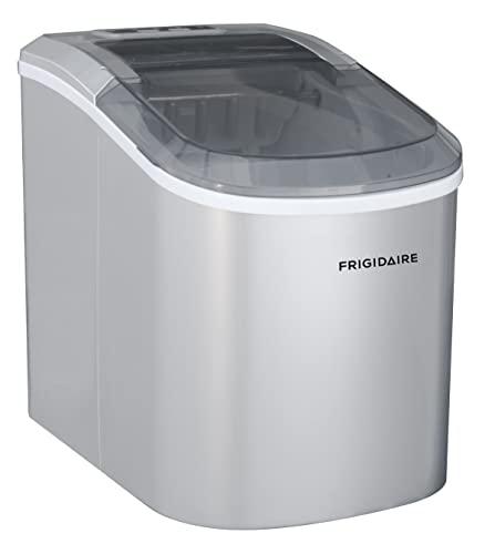 Frigidaire EFIC189-Silver Compact Ice Maker, 26 lb per Day,...