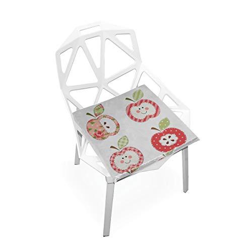 Rote rosafarbene frische Frucht Nette Dame Apple Gewohnheit weiche rutschfeste quadratische Gedächtnisschaum Stuhl Auflagen Kissen Sitz Hauptküche Esszimmer Büro Rollstuhl Innen 16 X 16 Zoll
