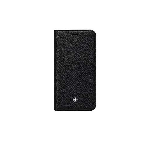 Montblanc Meisterstück - Funda con Tapa para iPhone XR (16 cm), Color Negro