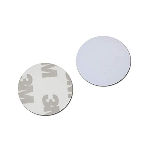 Waizmann.IDeaS® 10x RFID Tag 125Khz COIN 25mm Ø PVC Transponder Wasserdicht Selbstklebend
