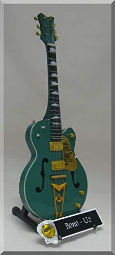 Bono en miniatura Mini guitarra Gretsch de U2el objetivo es alma W/Nombre de etiqueta