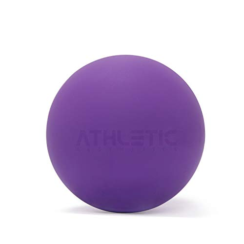 ATHLETIC AESTHETICS Massage-Ball [6cm Durchmesser] - Als Lacrosse-Ball und Faszien-Ball zur Selbstmassage und zur Triggerpunkttherapie (genaue Behandlung von Verspannungen) geeignet (Lila)