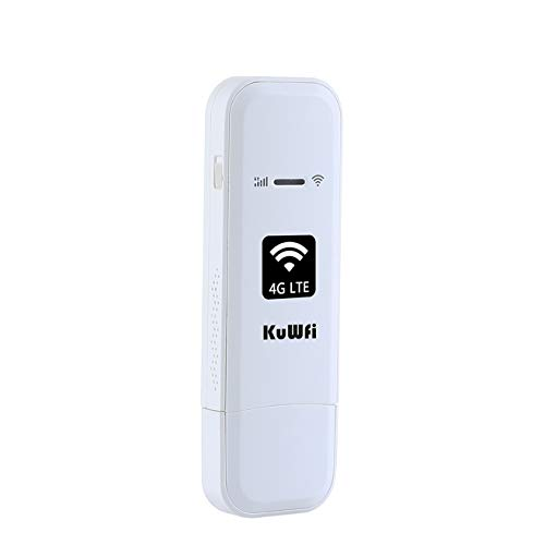 KuWFi 4G LTE USB WiFi Modem Mobile Internet Devices with TS9 Port SIM Card Slot High Speed Portable Travel Hotspot Mini Router for USA/CA/MX