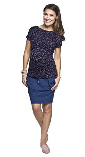 Damen Sommerrock Umstandsrock, Modell: Swing Summer, dunkelblau, S