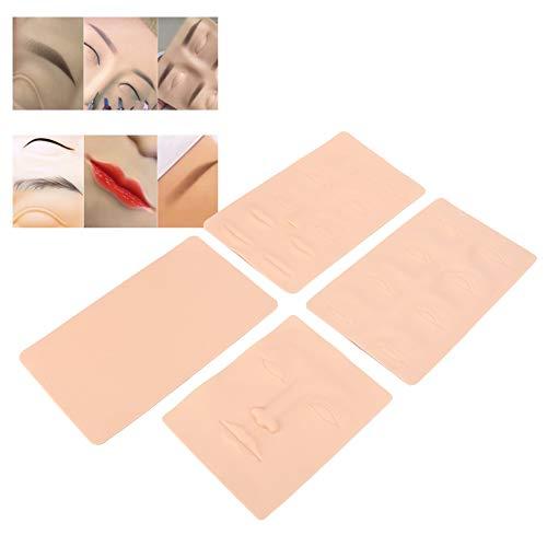 Pelle multiuso per pratica del tatuaggio con micropiastre 4 pezzi/set, strumento per la formazione del tatuaggio del labbro per sopracciglia eyeliner tatuaggio pelle permanente in lattice trucco