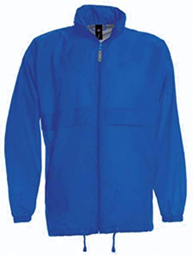 B&C Collection Sirocco Kids Windbreaker Jacket Royal Blue 7-8 Years by B&C Collection