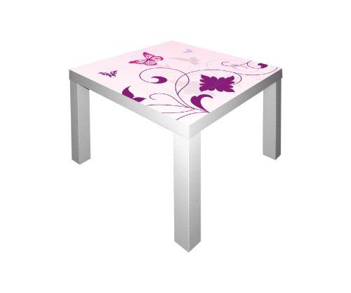 Stikkipix Pink-World Möbelsticker/Aufkleber für den Tisch Lack von IKEA - IM43 - Möbel Nicht Inklusive