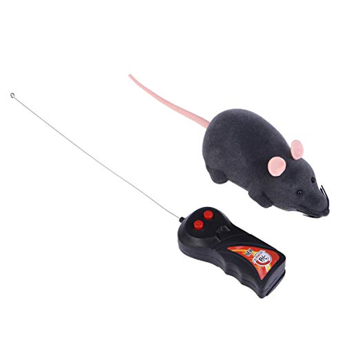 Tomaibaby 1pcs Scary Electronic Remote Control Rat Mouse Toy Fake Mouse Prank Prop Fake Animal Toys for Cat Kitten Dog Pet Kids Novelty Gift