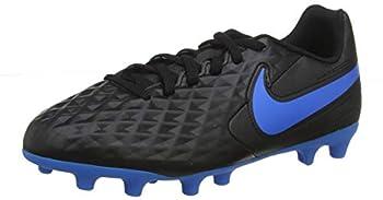 Nike Jr Tiempo Legend 8 Club FG/MG Youth Soccer Cleats  Numeric_6  Black/Blue