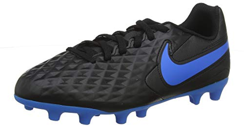 Nike Legend 8 Club Fg/MG, Scarpe da Calcio Unisex-Bambini, Black/Blue Hero, 36 EU
