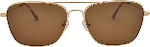 SQUAD Polarizadas Gafas de sol Para hombre y mujer adulto, Clásicas Cuadradas Gafas ligeras, 100% protección UV400, Metálico Con cierre de aro