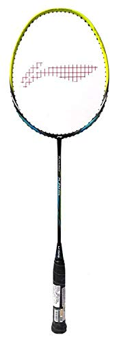 Li-Ning Turbo X 70 G4 Carbon-Graphite Strung Badminton Racquet (Black/Lime) with Cover