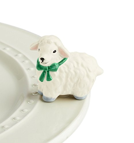 Nora Fleming Hand-Painted Mini: I Love Ewe (White Lamb) A195