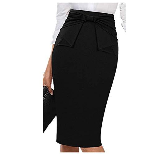 N\P Elegante falda plisada de cintura alta a rayas de patchwork, delgado, informal, para trabajo, oficina, negocios, fiesta, lápiz