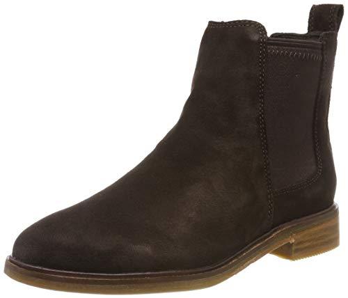 Clarks Mädchen ClarkdaleLoHot Biker Boots, Braun (Dark Brown Dark Brown), 35.5 EU